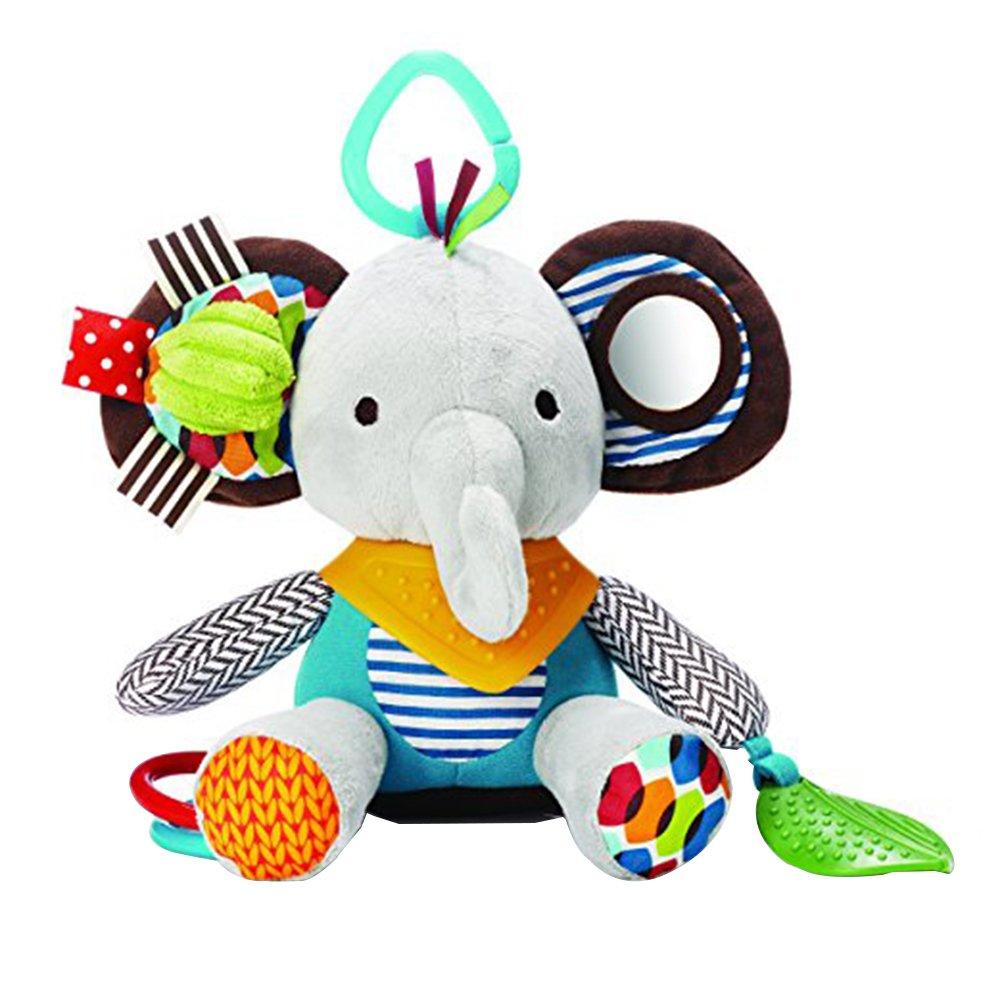 YeahiBaby infant baby plush suspensión elephant rattle juguetes colgantes para cochecitos espiral