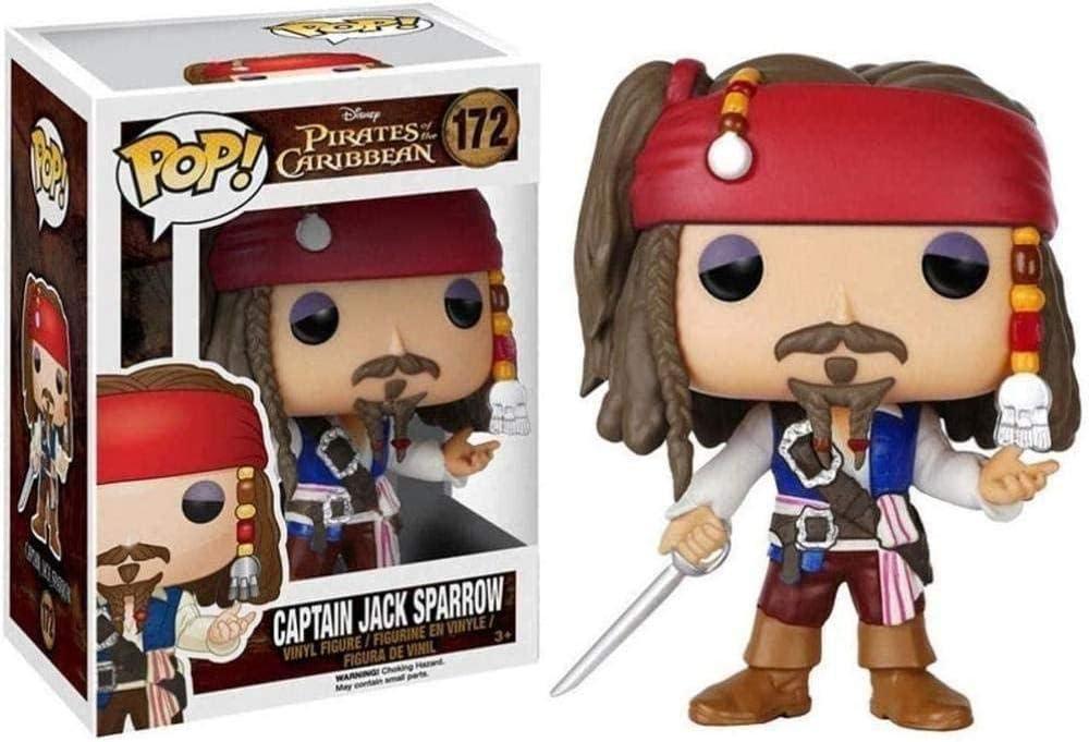 ZGZZ ¡Figura Pop! Figura de Vinilo de Jack Sparrow, Figura Coleccionable de Film Master de la Serie Classice de películas Piratas del Caribe, 10 cm