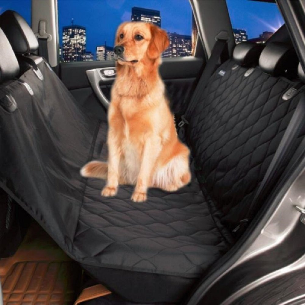 Leber Dog Seat Cover Pet Cover for Car Back Seat Hammock Style Car Seat Cover Hammock for Rear Bench (Applicable Full Surround) Exclusive Seat-Hugging Side Flaps Anti-Scratch Anti-Slip Waterproof…
