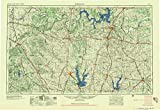 Sherman TX topo map, 1:250000 scale, 1 X 2 Degree, Historical, 1958, updated 1959, 22.6 x 33 IN - Paper