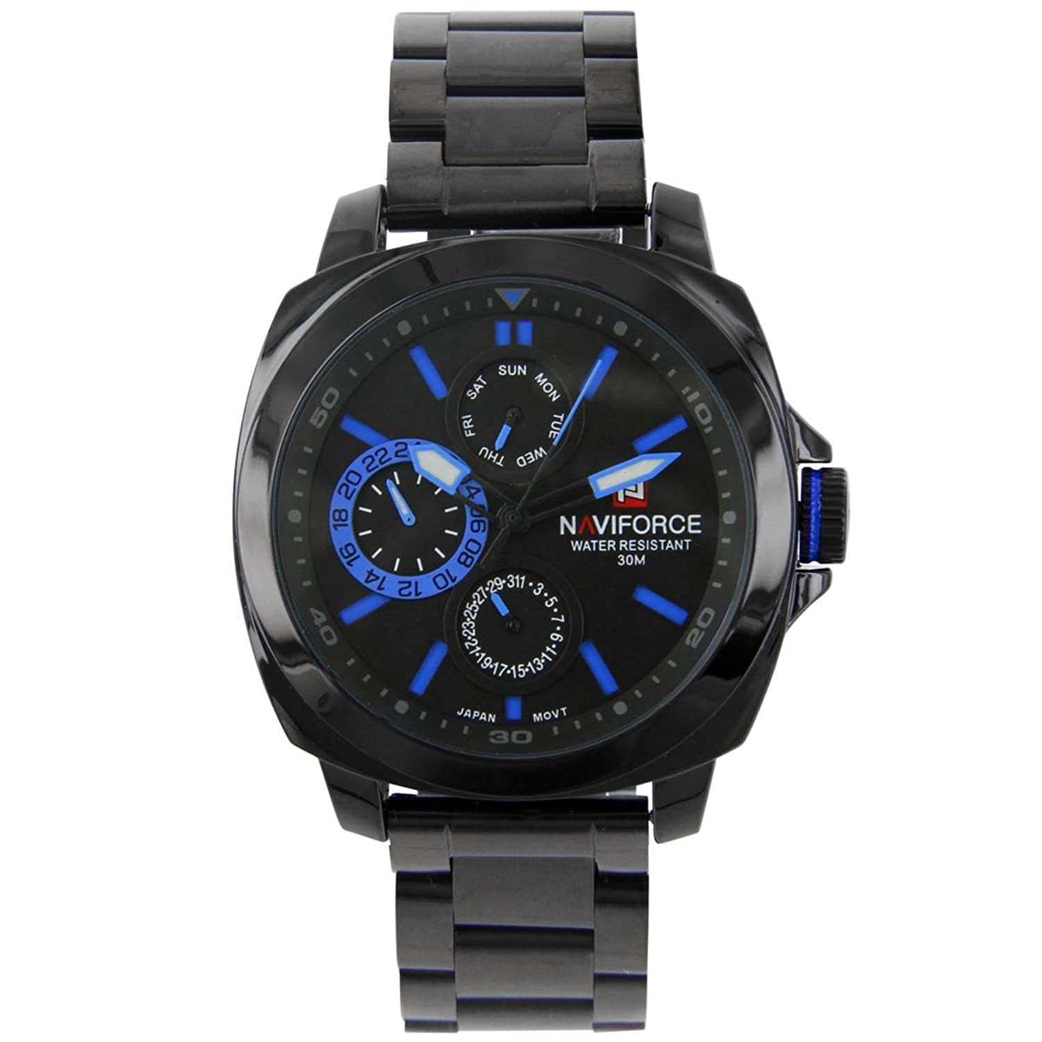 naviforce – Herrenuhr Stahl schwarz MVT Citizen naviforce 498
