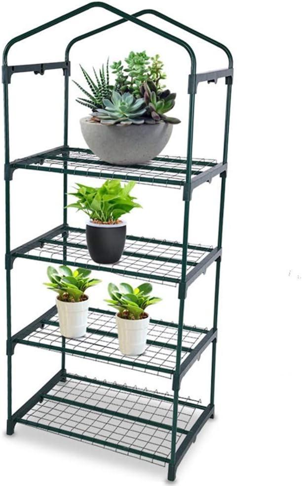 Asixx Pegatinas de Hierro, Estantes para Invernadero, Invernadero de Jardín, de Material de Hierro, con 4 Estantes Interiores, para Usar En El Jardín: Amazon.es: Hogar