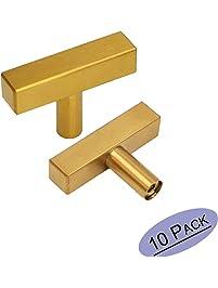 brushed brass cabinet knobs drawer pulls furniture hardware goldenwarm ls1212gd square gold kitchen cabinet door
