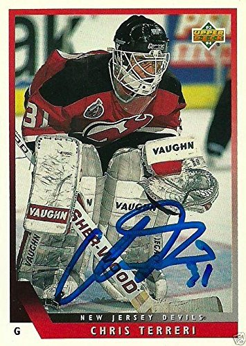 Chris Terreri Signed 1994 NJ Devils Card - COA - USA - NY Islanders - Upper Deck Certified - Autographed Hockey Cards