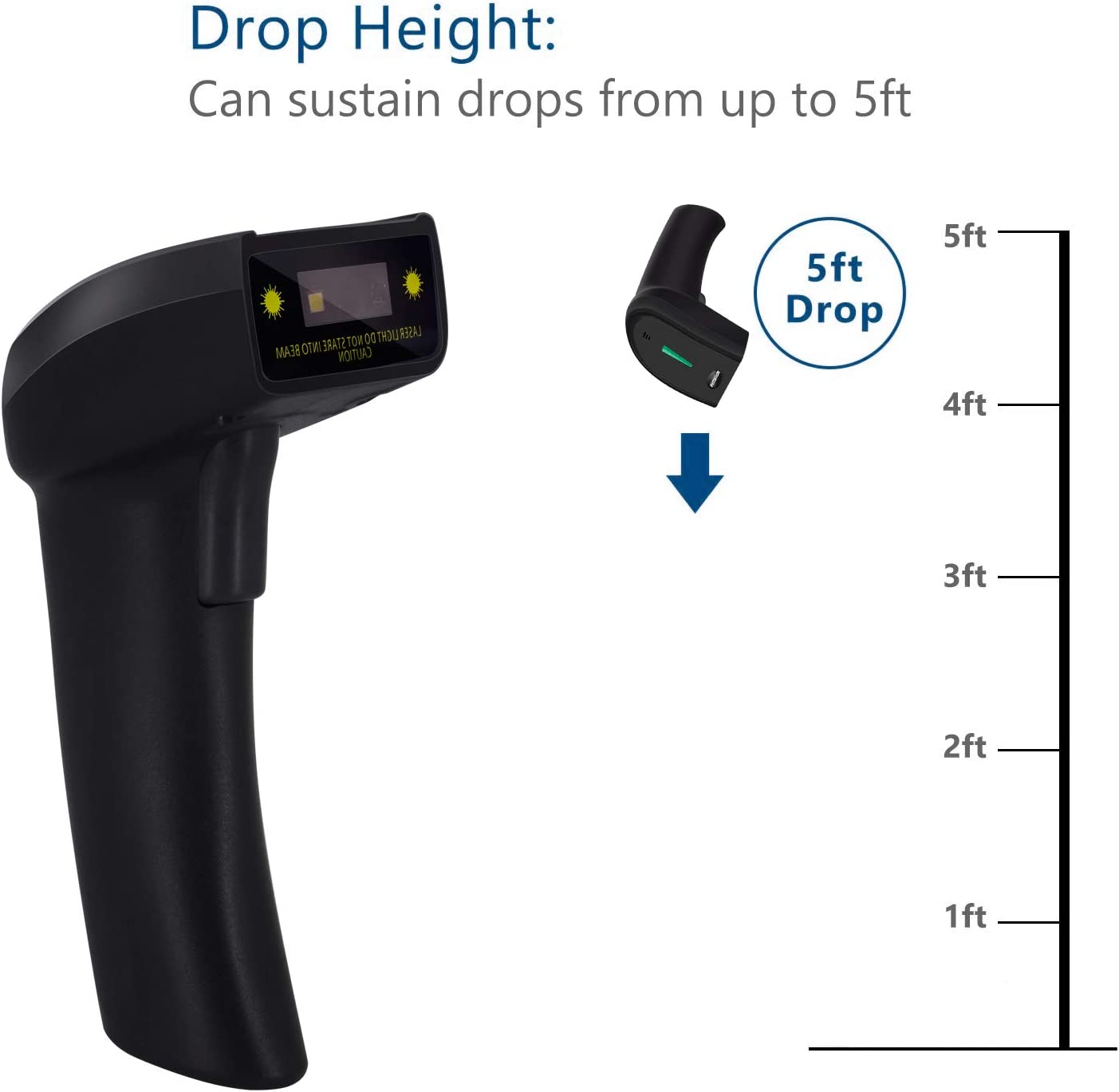 Bar Code Scanners Alacrity 3 in 1 USB Wired and 2.4G Wireless and ...