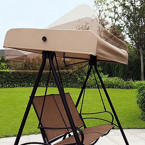 Garden Winds Sand Dune 2 Person Swing Replacement Canopy Top Cover by Garden Winds (Image #1)