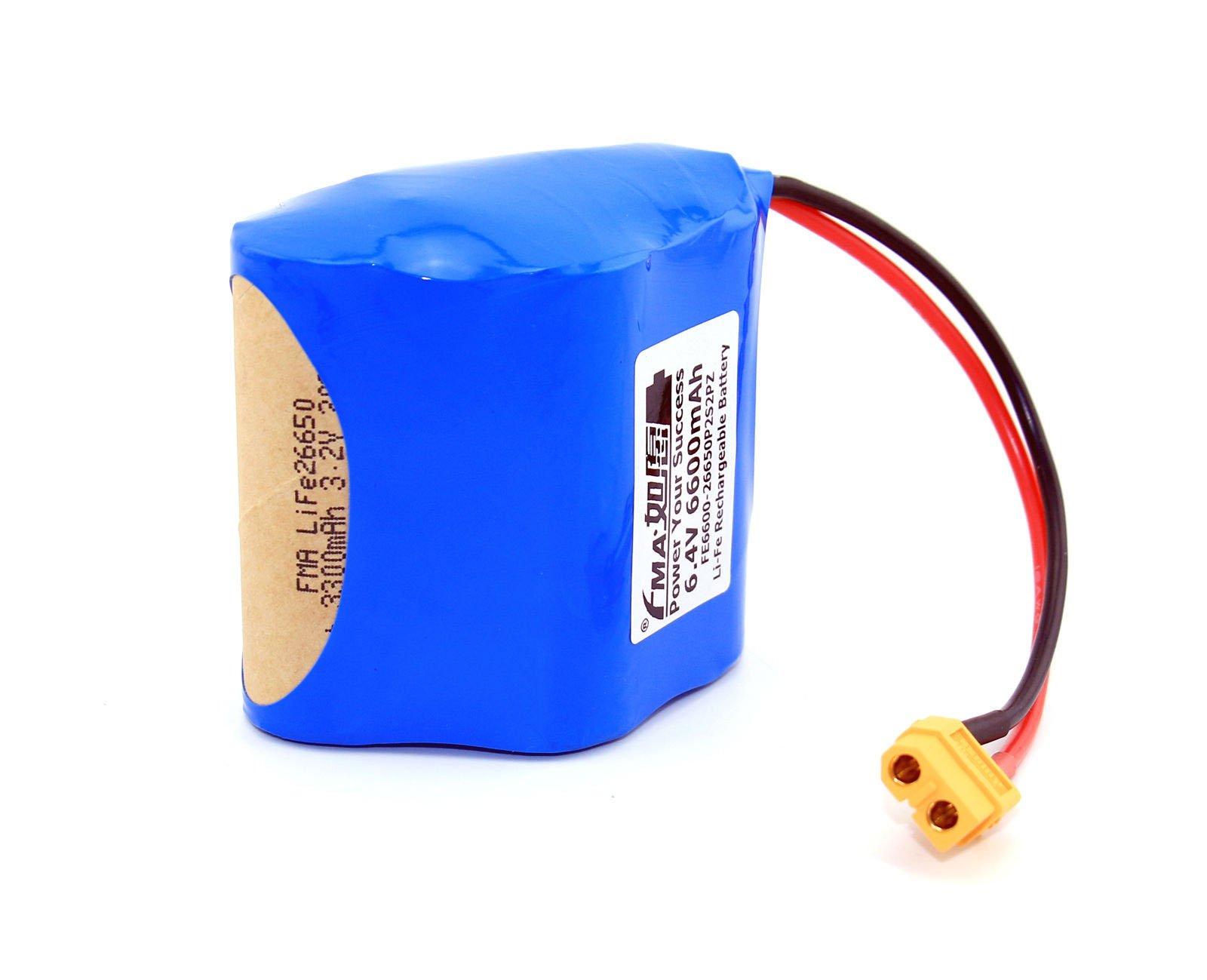 Life Deer Game Feeder Battery 6.4V 6.6Ah Like Sealed Lead Acid 6V Cell 2S2Pz