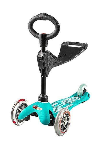 Amazon.com: Micro Mini 3in1 Deluxe Kick Scooter (Aqua): Toys ...