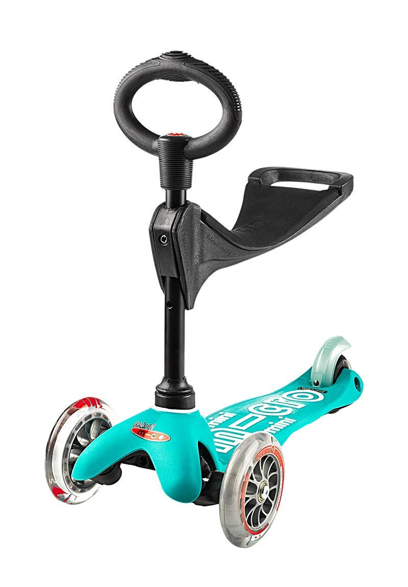 Mini 3in1 Deluxe | 3-Stage Ride-on Micro Scooter Toddler Toys for Ages 12 Months to 5 Years | Aqua