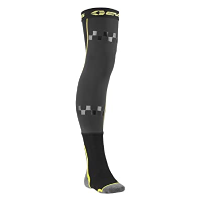 EVS Sports Fusion Socks Combo (Black/Hi-Viz, L/XL): Automotive