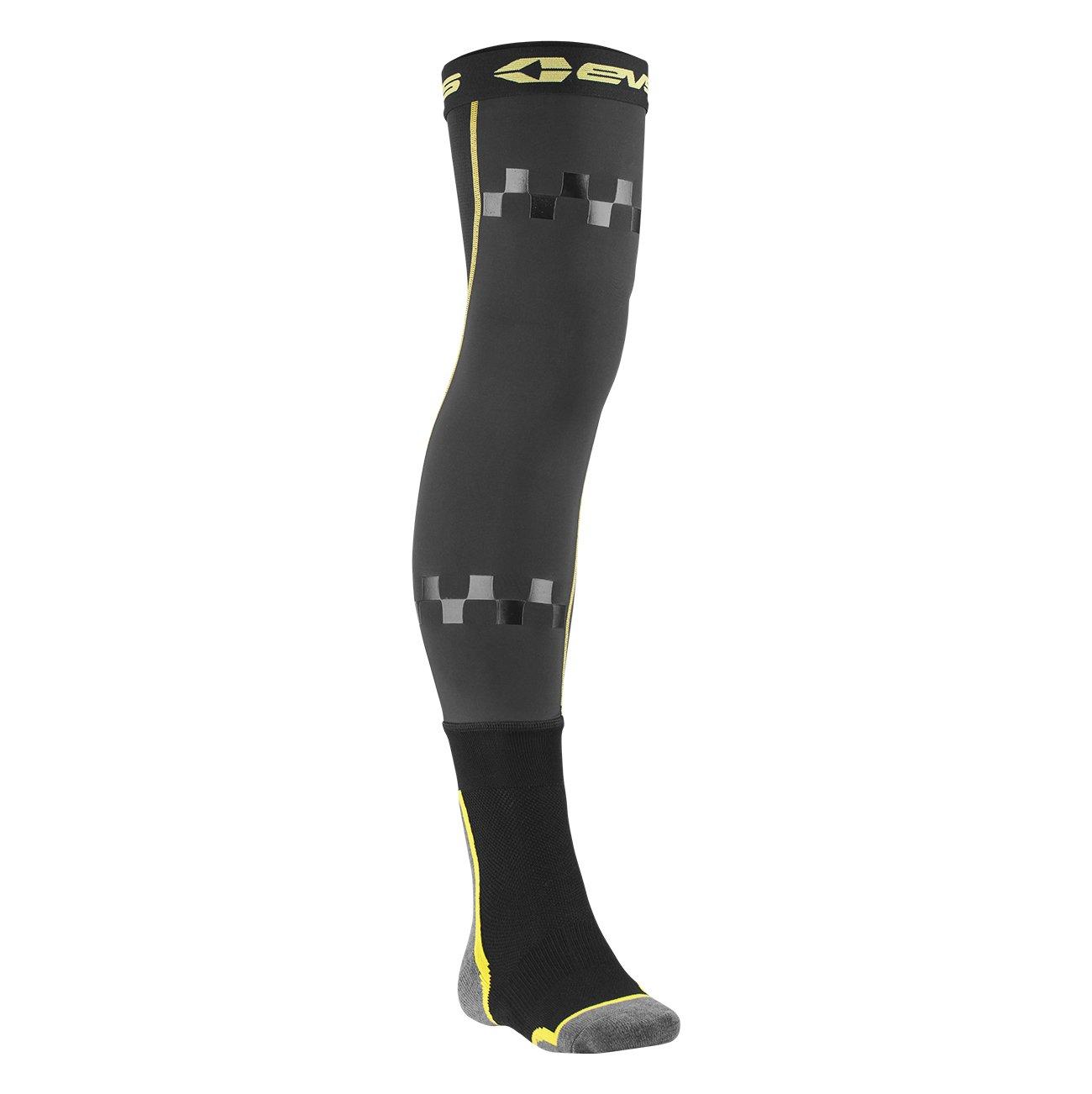 EVS Sports Unisex-Adult Fusion Socks//Sleeve Combo Black//Hi-Viz, Large//X-Large