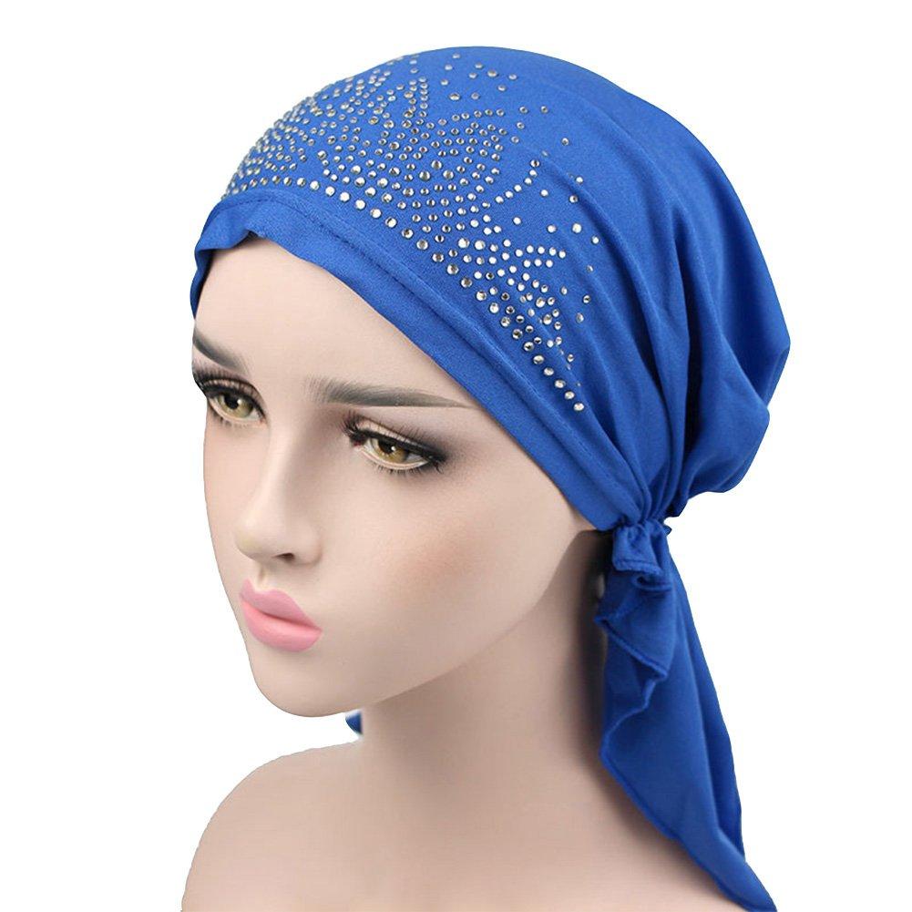 Sombrero de Turbante musulmán, ZYCC Sombrero de gorra Beanie Cap Turban (Azul): Amazon.es: Ropa y accesorios