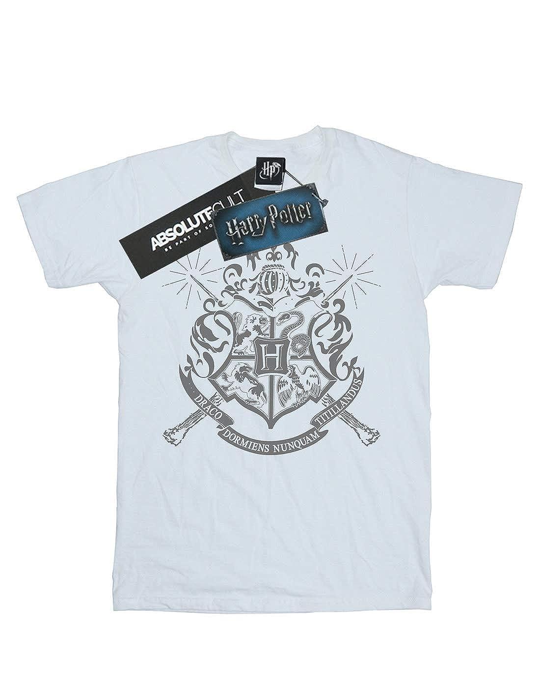 Harry Potter Fille Hogwarts Badge Wands T-Shirt