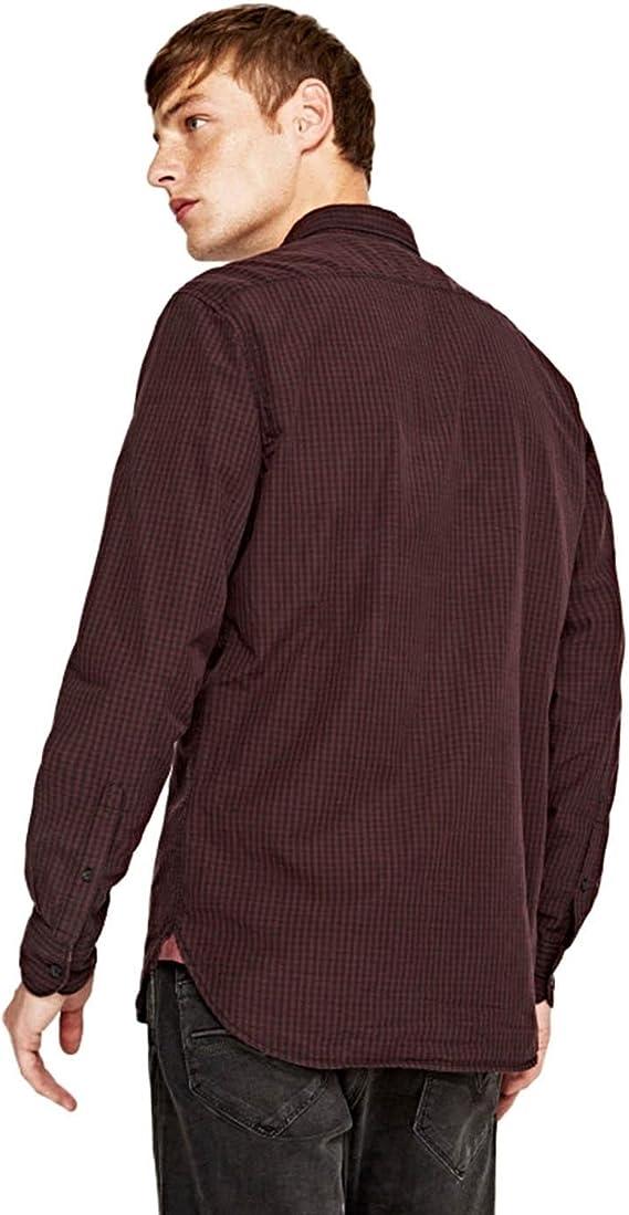 Pepe Jeans Camisa Alex Burdeos: Amazon.es: Ropa y accesorios