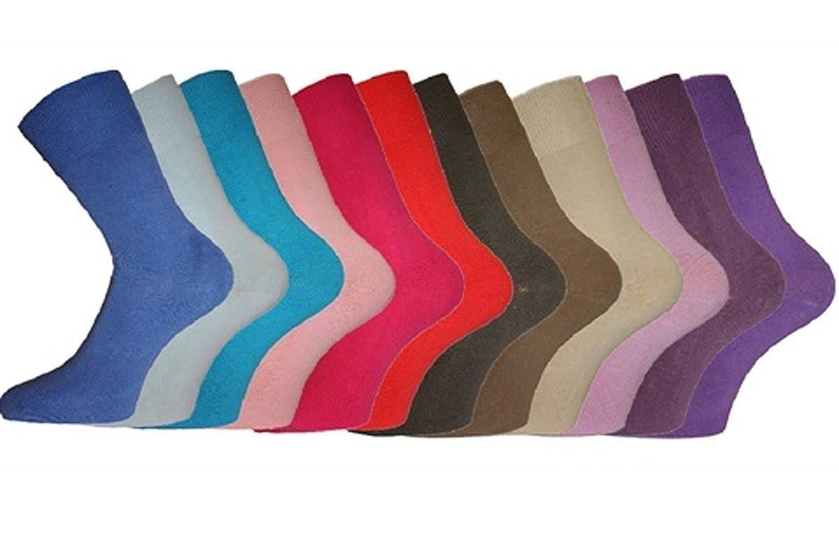 6pk ladies non elastic cotton socks