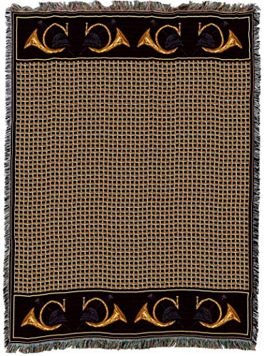 - Pure Country Weavers | Hunters Pace Equestrian Decor Woven Tapestry Throw Blanket with Fringe Cotton USA 72x54
