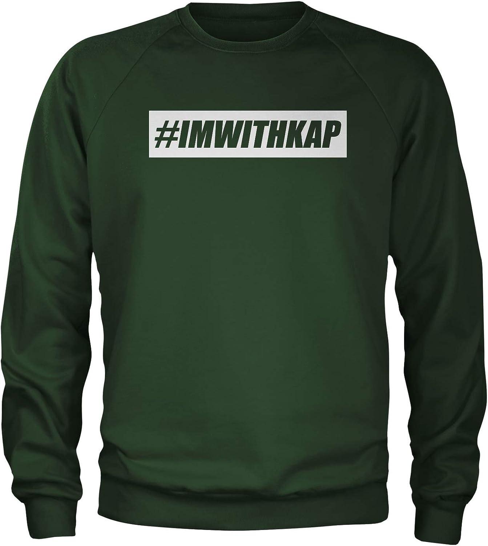 Expression Tees Im with Kap Take A Knee Crewneck Sweatshirt