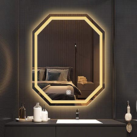 European Style Smart Bathroom Vanity Mirror With Led Light Wall Mounted Vanity Art Deco Mirror Toilet Toilet Anti Fog Vanity Mirror Hd Silver Mirror Single Touch Switch Amazon Co Uk Kitchen Home