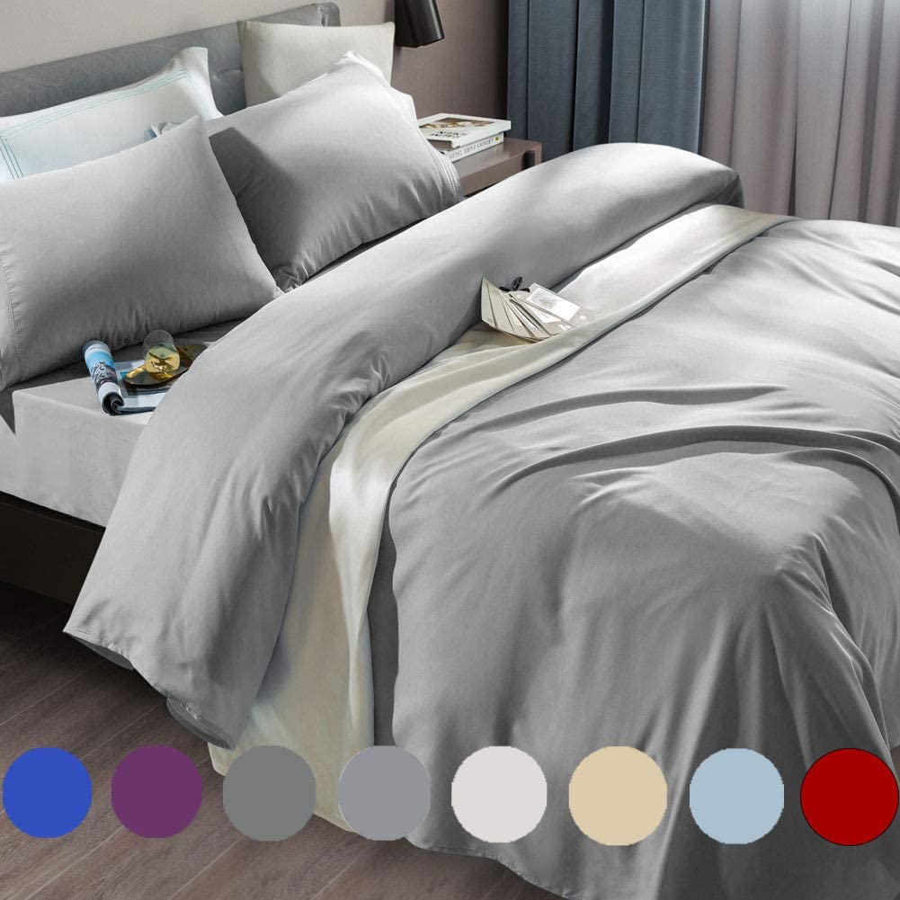 6-Piece Sonoro Kate Bed Sheet Set 1800 Thread Count Luxury Egyptian Queen Set