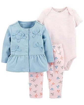 e3dbdbb1c Amazon.com  Carter s Baby Girls  3-Piece Little Jacket Set (Blue ...