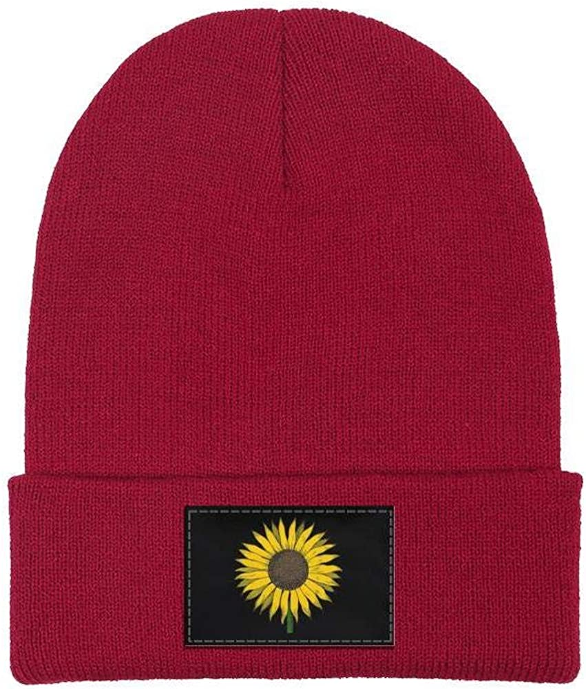 ONEYUAN Sunflower Drawing Unisex Winter Hat Warm Woolen Sport Ski Cap Outdoor