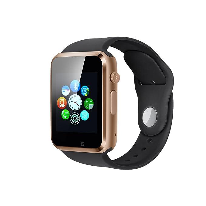 Reloj inteligente Bluetooth, con pantalla táctil, tarjeta SIM, tarjeta TF, soporte de cámara para iOS y Android