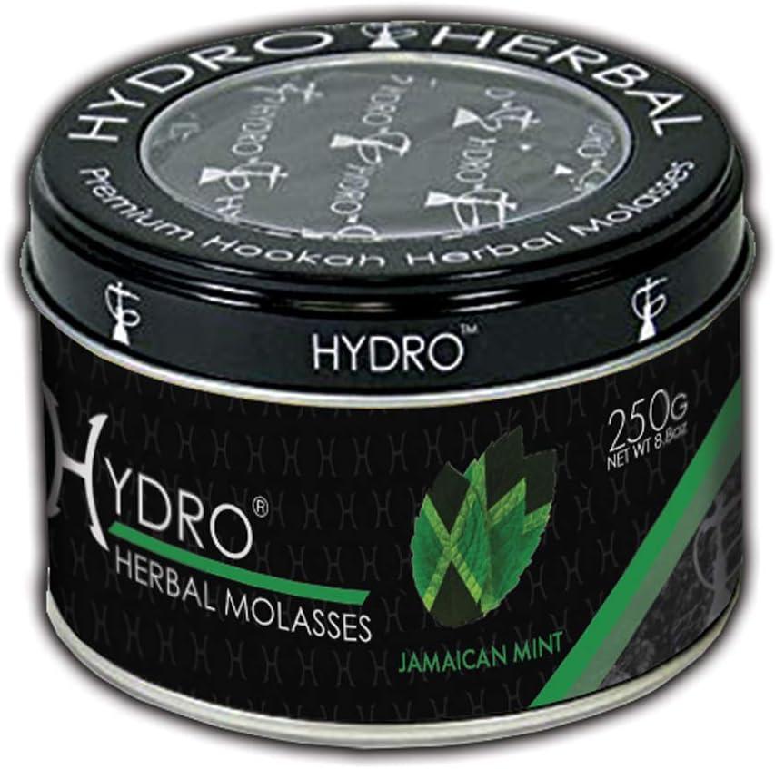 Hydro Herbal, Hookah Shisha Flavor, 250g Can, Tobacco Free, Nicotine Free [Jamaican Mint]