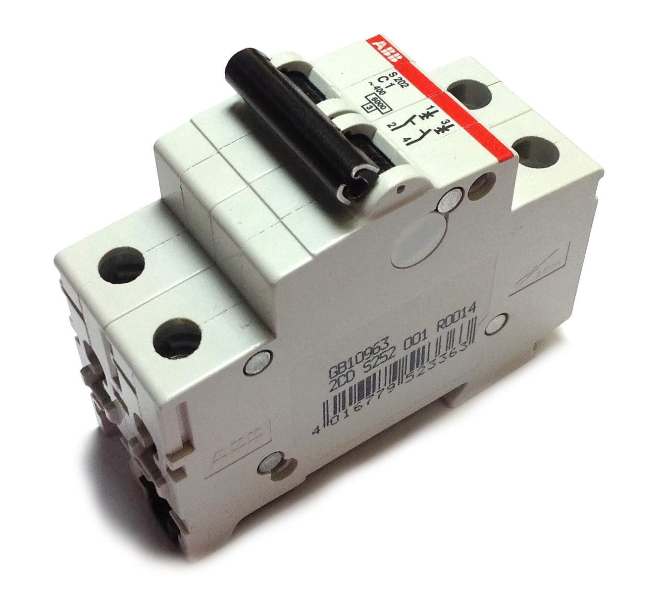ABB S202-C1 MCB 2P C 1A 480Y//277 SUPP