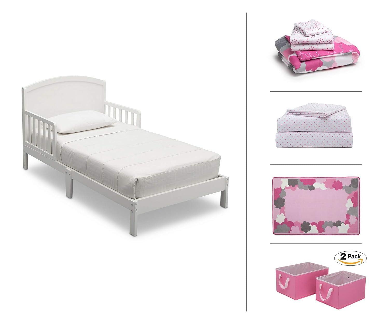 amazon com delta children toddler bedroom set girls 5 piece white rh amazon com toddler bedroom set walmart toddler bedroom setup