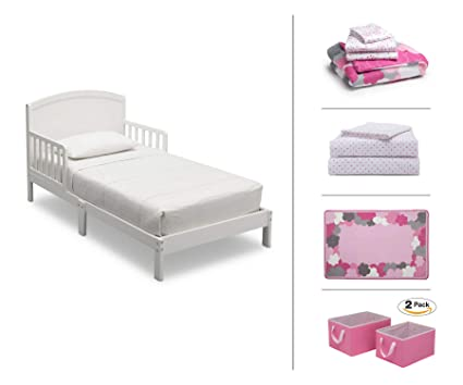 Amazon.com: Delta Children Toddler Bedroom Set, Girls 5-Piece (White ...