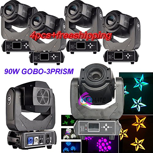 4PCS CARTON PACK 3PRISM HOTSALES LED 90W Spot Gobo WASH Moving Head Light Stage DJ Lighting