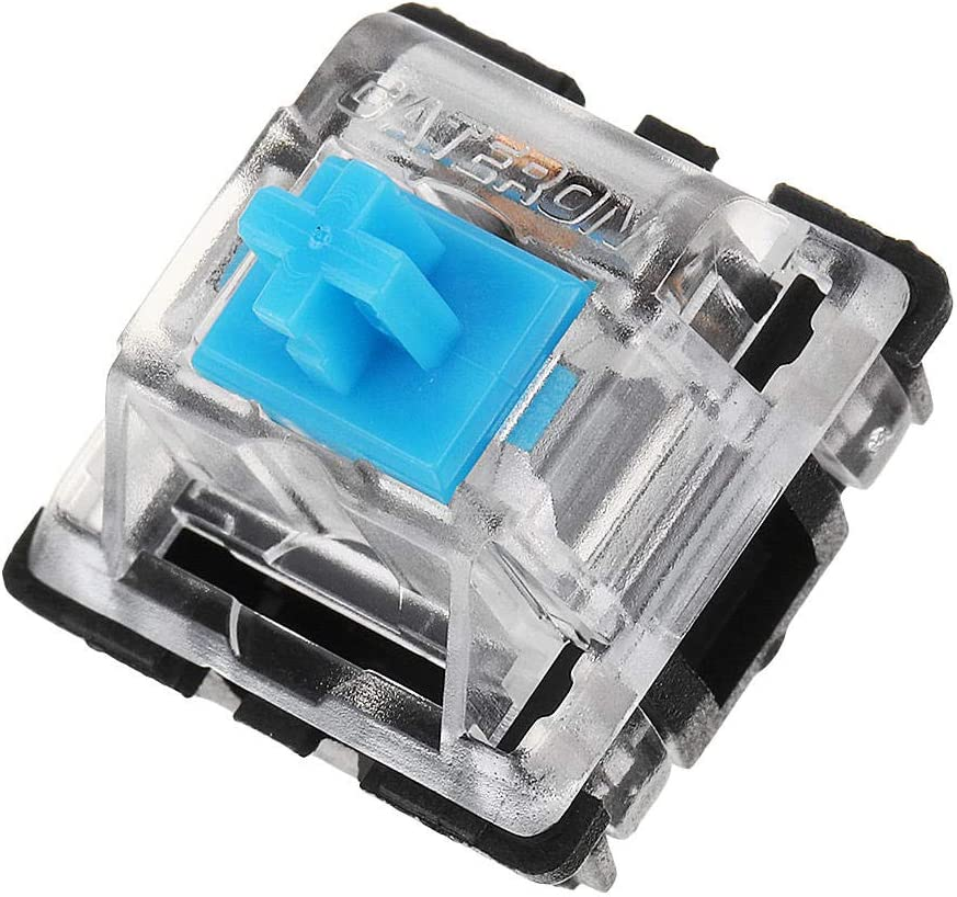 XiaoMall 70PCS Pack 3Pin Gateron Clicky Blue Switch Keyboard Switch For Mechanical Gaming Keyboard