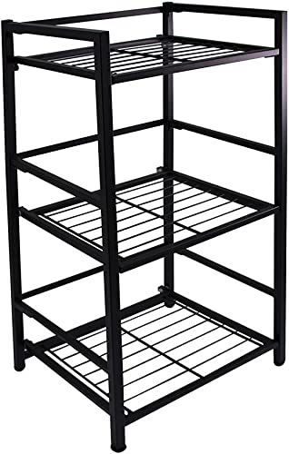 Flipshelf-Folding Metal Bookcase-Small Space Solution-No Assembly-Home