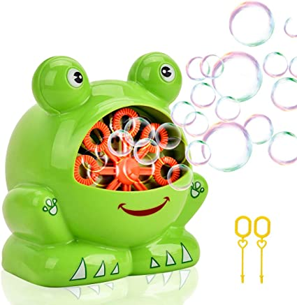Toys For Baby 2 3 4 5 6 7 8 9 Year Old Cute Frog Automatic Bubble Machine Blower