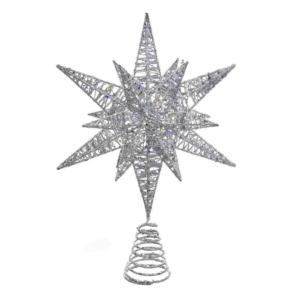 Kurt Adler 15.5'' SILVER MULTI-ANGLE STAR TREETOP