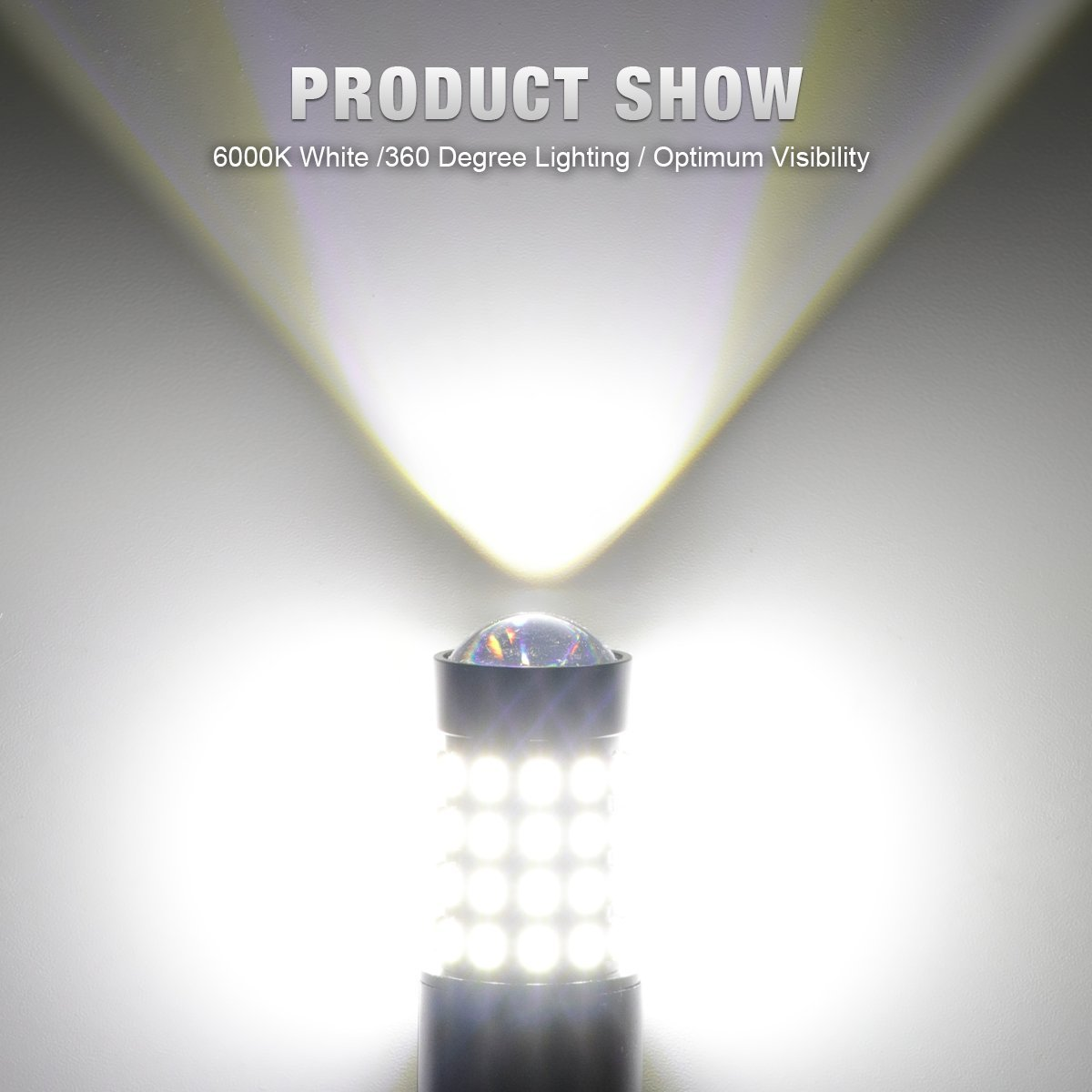 KAFEEK 2x Extremely Bright Canbus Error Free 921 912 W16W LED Bulbs For Backup Reverse Lights Xenon White