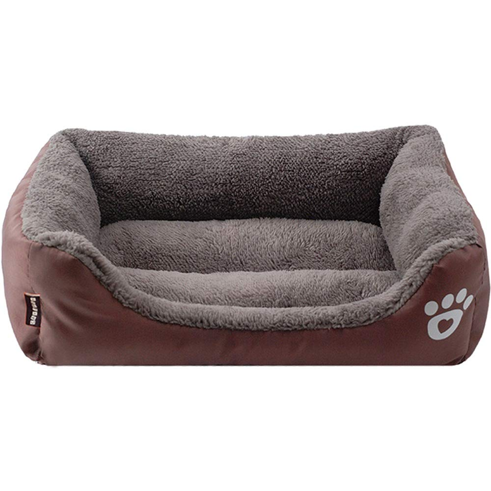 C S C S Pet Cat Litter Dog Nest Autumn and Winter Cat Pad Dog Pad Teddy Bomei Than Bear golden Hair Four Seasons Available, color  orange, bluee, Brown (S, M, L) (color   C, Size   S)