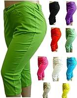 1826 Stretchy premium CAPRI BLACK denim jeans HIGH WAIST WOMENS