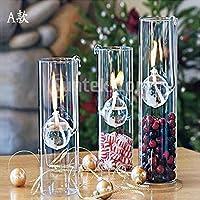Creativa Lámpara De Aceite De Vidrio Transparente Sala