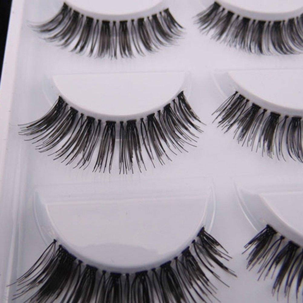 5 Pairs Natural Look Fake Eye Lash False Eyelashes Extension ...