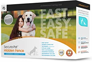 Sit Boo-Boo Electric Dog Fence and Pet Containment System In-Ground or Above Ground Installation - Rechargeable - 955 Feet of Wire w/Quickstart Guide