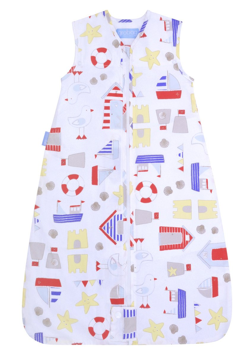 The Gro Company Sandcastle Bay Travel Grobag, 0-6 Months, 2.5 TOG