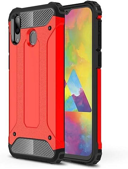 RZL Teléfono móvil Fundas para el Samsung Galaxy M20, el Estuche Combinado Magic Armor TPU + PC para Samsung Galaxy M20 (Color : Red): Amazon.es: Electrónica