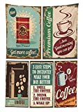 1950s Decor Tablecloth Coffee Posters and Metal Signs Artistic Design Bean Cup Tin Espresso Mug Cappuccino Logo Dining Room Kitchen Rectangular Table Cover