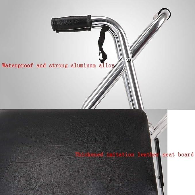 B WALKER Andador Plegable, Andador de Rodillos de Aluminio con ...
