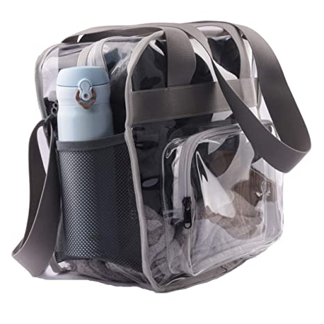 Haoguagua Heavy-Duty Clear Stadium Bag Clear Crossbody Tote Bag NFL   PGA  Stadium Approved f8f482ea7032d