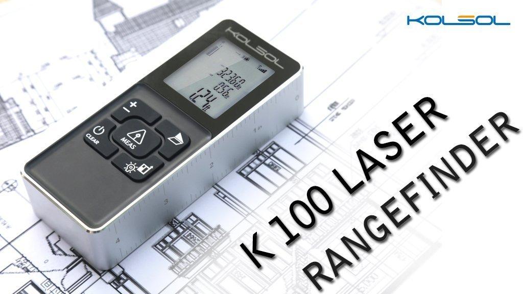 kolsol K100 Laser-Entfernungsmesser 100 m/328ft/10.000 cm mit ...