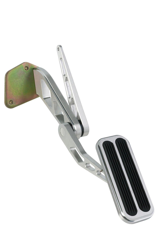 Lokar BAG-6117 Brushed Billet Aluminum Throttle Pedal with Rubber