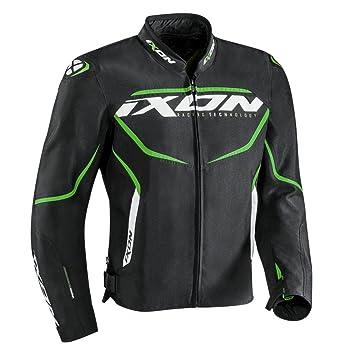 Ixon – Chaqueta de moto para Sprinter, color negro/verde, talla L
