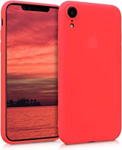 kwmobile TPU Silicone Case Compatible with Apple iPhone XR - Soft Flexible Protective Phone Cover - Neon Red